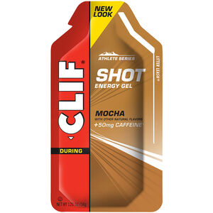 CLIF Bar Shot Gel Box 24x34g Mocha with Caffeine