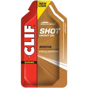 CLIF Bar Shot Gel Box Mocha with Caffeine 24 x 34g