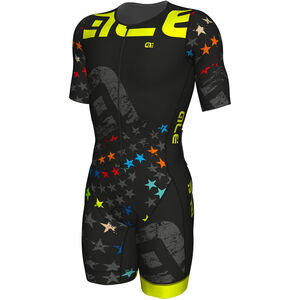 Alé Cycling Triathlon Stelle SS Skinsuit Men black-fluo yellow