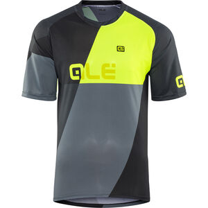 Alé Cycling Enduro Rampage SS Jersey Herren grey-flou yellow grey-flou yellow