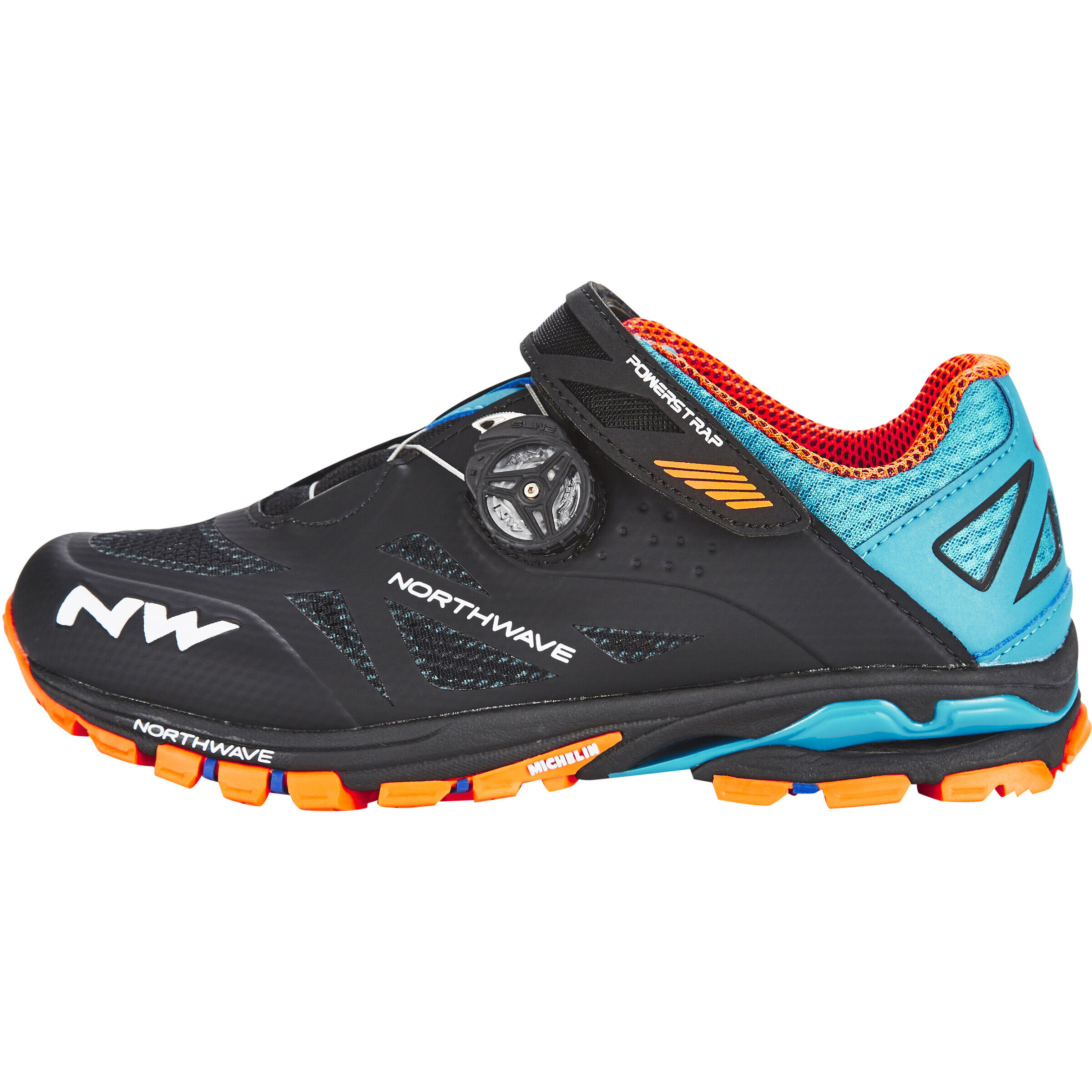 Northwave Spider Plus 2 Shoes Herren blackgreenorange