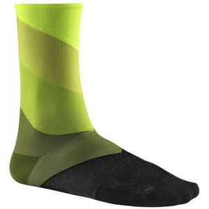 Mavic Graphic Stripes Socks safety yellow/catus safety yellow/catus