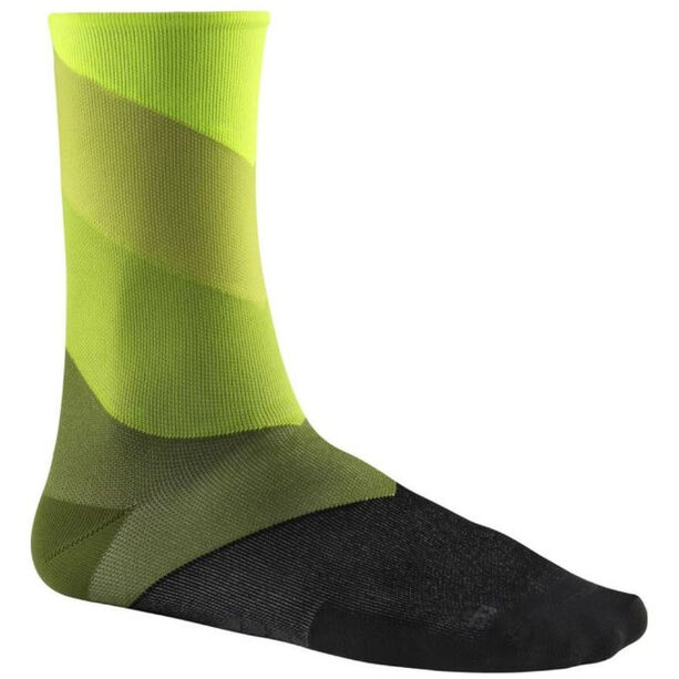 Mavic Graphic Stripes Socks safety yellow/catus
