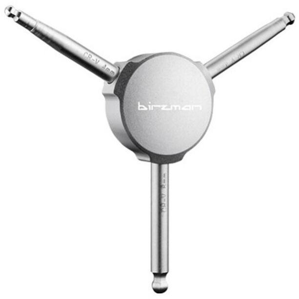 Birzman Y-Grip Innensechskantschlüssel 4/5/6 mm silber