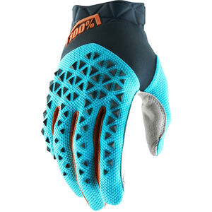 100% Airmatic Gloves steel grey/ice blue/bronze steel grey/ice blue/bronze