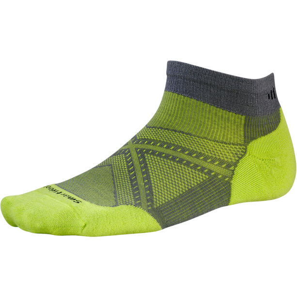 Smartwool PhD Run Light Elite Low Cut Socks graphite/smartwool green