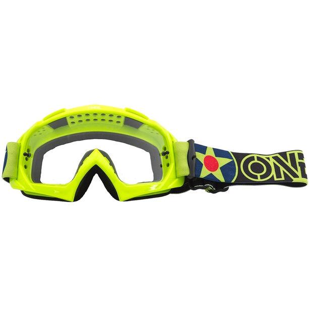 O'Neal B-10 Goggles warhawk neon yellow/black-clear