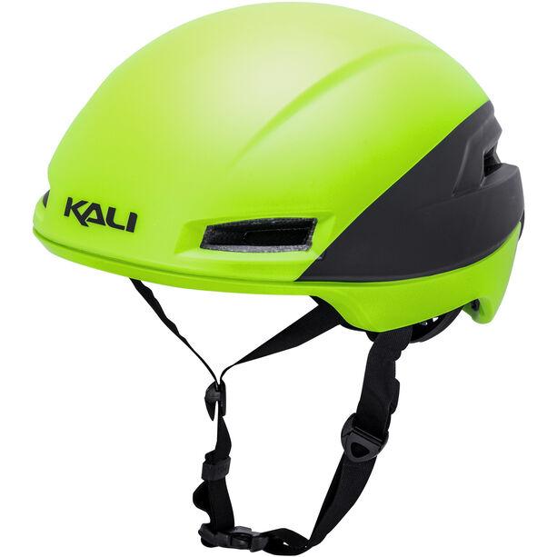 Kali Tava Flow Helm Herren matt neon gelb/schwarz