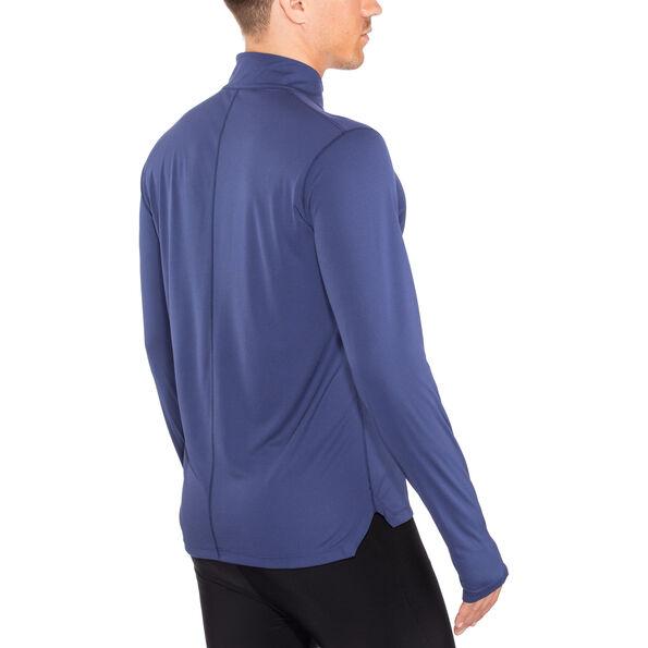 asics Silver Langarm 1/2 Zip Top Herren indigo blue