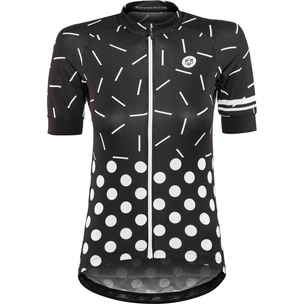 AGU Sprinkle Dot Shortsleeve Jersey Damen black/white
