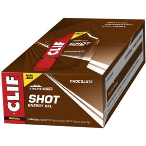 CLIF Bar Shot Gel Box 24 x 34g Schokolade