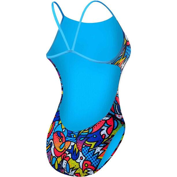 TYR Astratto Cutoutfit Swimsuit Damen blue/multi
