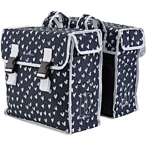 Basil Mara XL Luggage Pannier Double Bag L, 35l heart dots heart dots