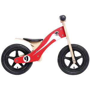 "Rebel Kidz Wood Air Laufrad 12"" Kinder retro racer/rot/weiß retro racer/rot/weiß"