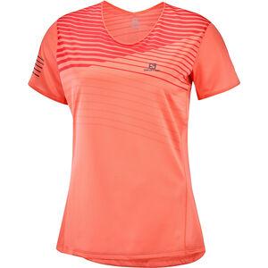 Salomon Sense T-Shirt Damen camellia/cayenne camellia/cayenne