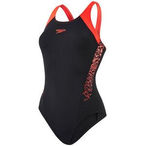 speedo Boom Splice Muscleback Swimsuit Damen black/lava red black/lava red