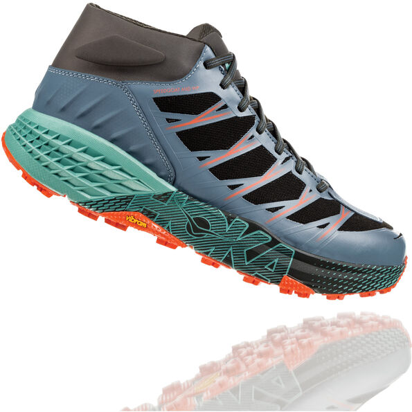 Hoka One One Speedgoat WP Mid-Cut Laufschuhe Herren stormy weather/beryl green