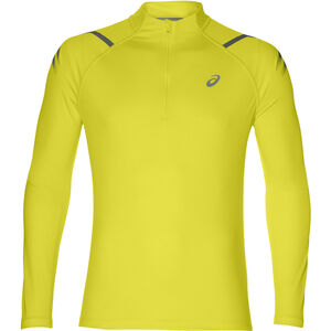 asics Icon LS 1/2 Zip Top Herren lemon spark/dark grey lemon spark/dark grey