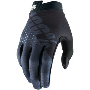 100% iTrack Gloves Kinder black/charcoal black/charcoal