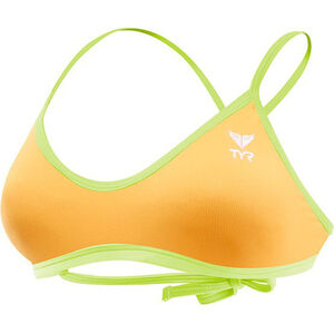 TYR Solid Crosscut Tieback Bikini Top Damen fluo orange/yellow fluo orange/yellow