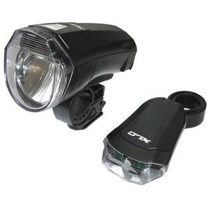 XLC CL-S14 LED Batterieleuchten Set StVZO schwarz schwarz