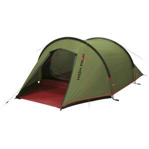 High Peak Kite 3 Tent pesto/red pesto/red