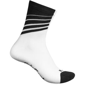 GripGrab Racing Stripes Socks white/black white/black