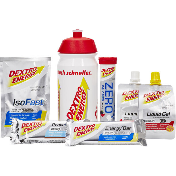 Dextro Energy Testpaket inklusive Flasche