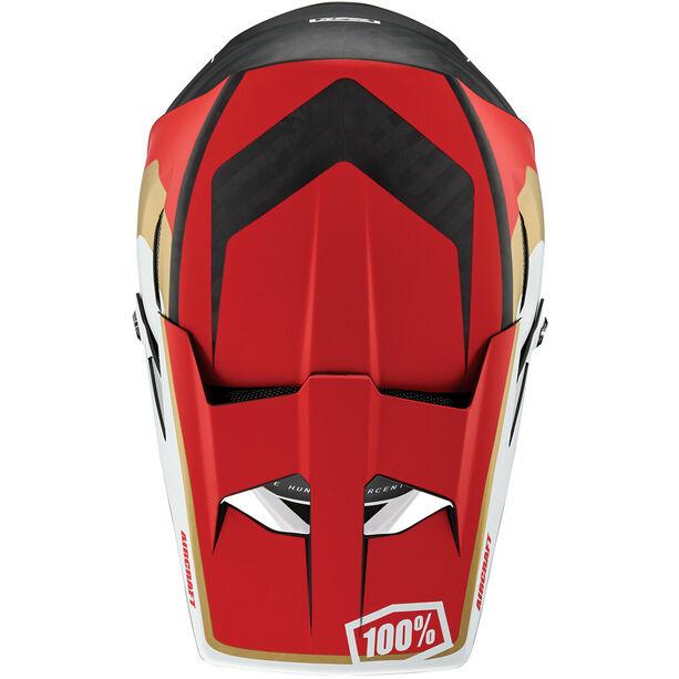 100% Aircraft DH Helmet incl. Mips ltd. red