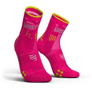 Compressport Pro Racing V3.0 Ultralight Run High Socks fluo pink fluo pink