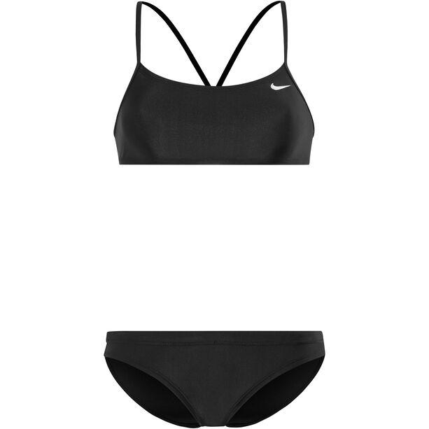 Nike Swim Solid Racerback Top & Sport Bikini Bottom Damen black/black