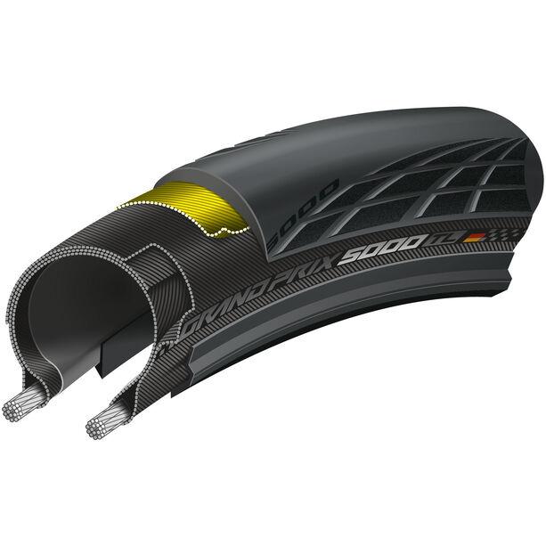"""Continental GrandPrix 5000 Tubeless Faltreifen 28x1,00"""" schwarz/schwarz-skin"""