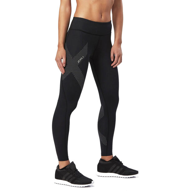 2XU Mid-Rise Compression Tights Damen black/dotted reflective logo
