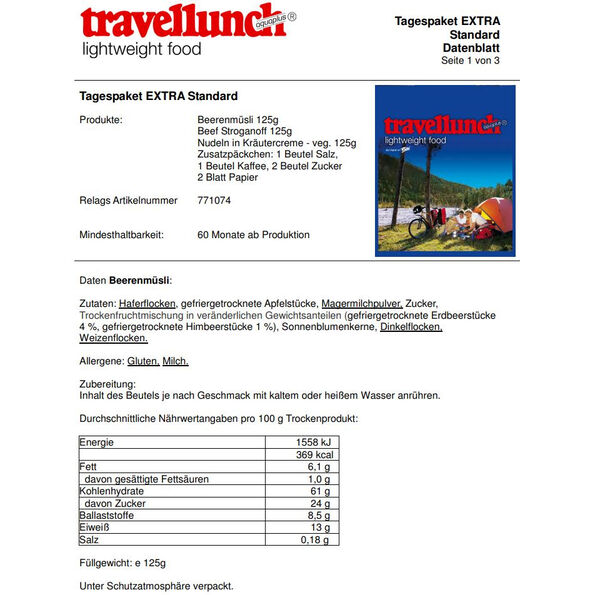 Travellunch Daypack 7/10 Stück Standart