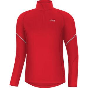 GORE WEAR M Mid Langarm Zip Shirt Herren red red