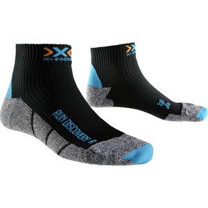 X-Socks Run Discovery Short Socks Women Black/Turquoise/Grey Mouliné