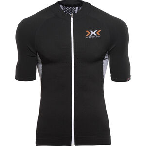 X-Bionic The Trick Biking Shirt SS Full Zip Men Black/White bei fahrrad.de Online