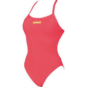 arena Solid Light Tech High One Piece Swimsuit Women fluo red-soft green bei fahrrad.de Online