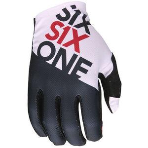 SixSixOne Raji Handschuhe Herren black/white black/white