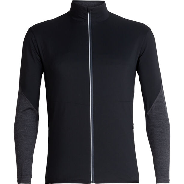 Icebreaker Tech Trainer Hybrid Jacket Herren black/jet heather