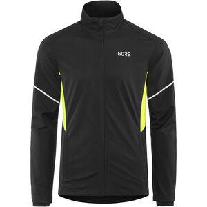 GORE WEAR R3 Partial Gore Windstopper Jacket Herren black/neon yellow black/neon yellow