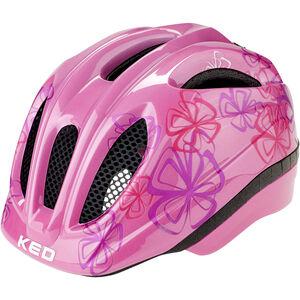 KED Meggy Trend Helmet Kinder pink flower pink flower