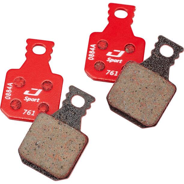 Jagwire Sport Semi-Metallic Scheibenbremsbeläge für Magura MT7/MT5/MT Trail Front 1 Paar rot