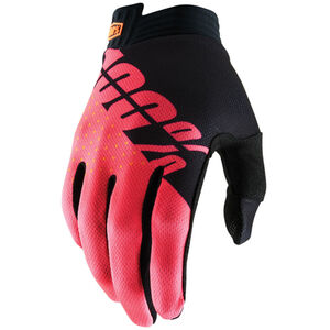 100% iTrack Gloves black/fluor red black/fluor red