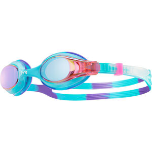 TYR Swimple Tie Dye Mirrored Goggles Kinder purple/pink purple/pink