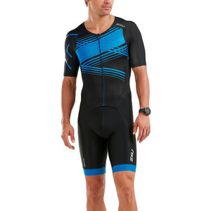 2XU Perform Full-Zip Sleeved Trisuit Herren black/signal blue print black/signal blue print