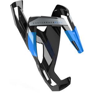 Elite Custom Race Plus Flaschenhalter schwarz glänzend/blau bei fahrrad.de Online