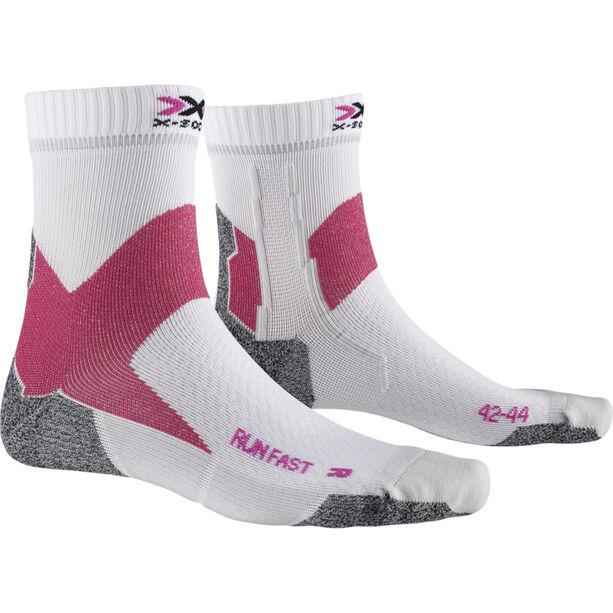 X-Socks Run Fast Socken arctic white/flamingo pink