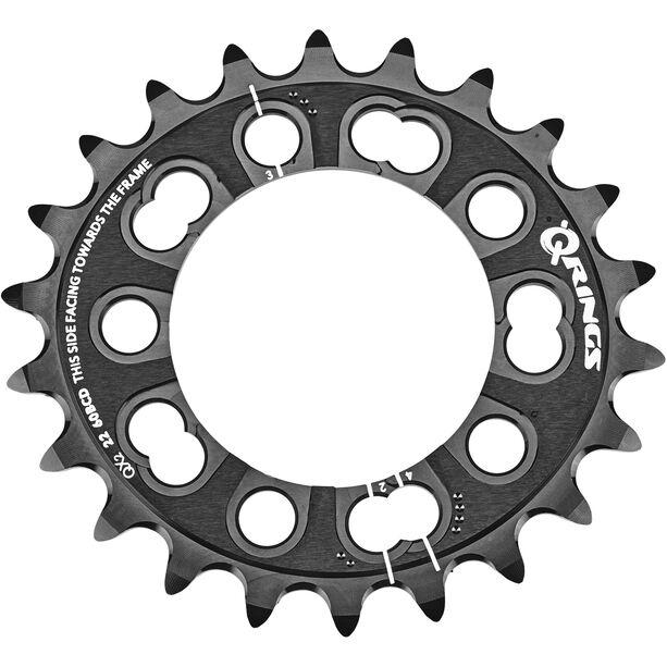 Rotor MTB QX2 Kettenblatt 2-fach innen schwarz