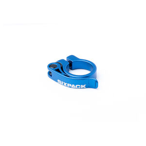 Sixpack Menace Sattelklemme Ø31,8mm blue blue